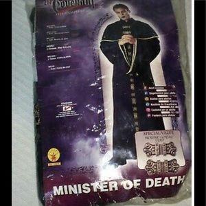 NEW Adult Minister Death Vampire Halloween Costume